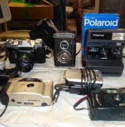 Фотоаппарат zenit e/комсомолец/polaroid/смена