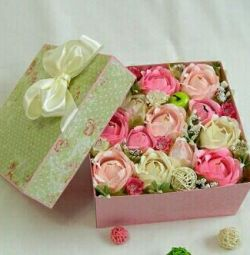 ? Bouquets of sweets in a box