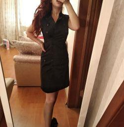 Чeрное платье XS-S