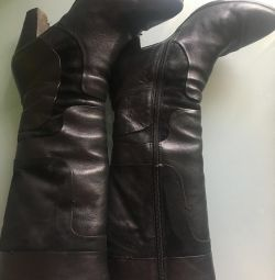 Boots winter ITA ITA Italy 39 r natural leather and fur