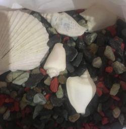 Scenery, pebbles for the aquarium