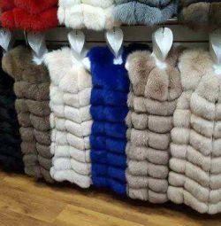 Vestă din blană de vulpe arctică