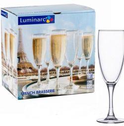 Γυαλιά luminarc Γαλλική μπρασερί 6pcs σαμπάνια