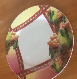 Flat dish 2 pcs