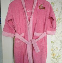 Bathrobe for girls for 8-10 years