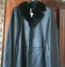 Νέο ανδρικό παλτό από δέρμα προβάτου