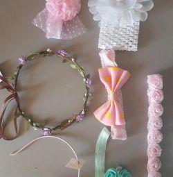 Wreath, bezel, bandages for hair.
