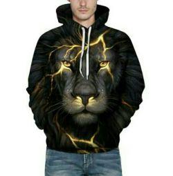 Φούτερ εκτύπωσης λιονταριών