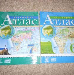 Atlas Coğrafya 6 ve 7 derslerinde