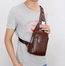 Erkek çantası - messenger sırt çantası, yeni