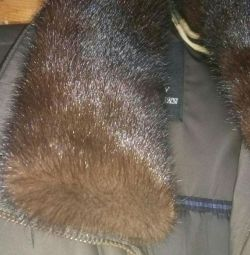 Winter Jacket. With a mink collar.