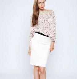 New white skirt