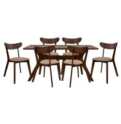 Dining Room SET 7MM WALNUT TABLE & CHAIRS ROS