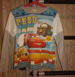 T-shirts with long sleeves, 2 pcs, 6-8 years