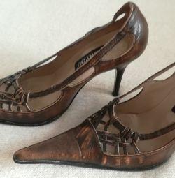 Sandale pentru pantofi, piele autentică, Italia, r-37