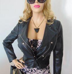 Jacket - Jachetă din piele ZARA