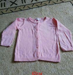 Düğmeli bluz, 80cm