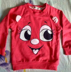 2 yaşında bir kız için kazak sweatshirt