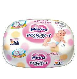 Салфетки в контейнере детские японские merries