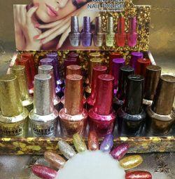 Glitter varnishes