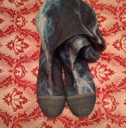 Cizme de jeans