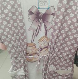 Продам халат для беременных и сорочка для кормлени