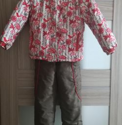 I will sell the winter HOPERISE semi-overalls times 98-104