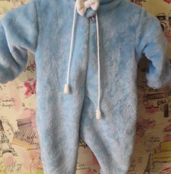 Plush jumpsuit for baby