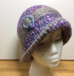 Авторская шляпа оригинальной расцветки,54-57арт187