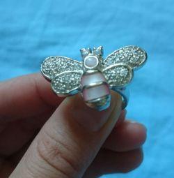 Inel de fluture din argint