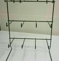 Table stand with hooks