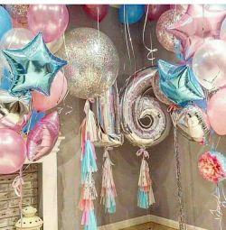 Воздушные гелиевые шары на день рождения