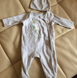 Set overalls and hat Mazeka 3-6 months