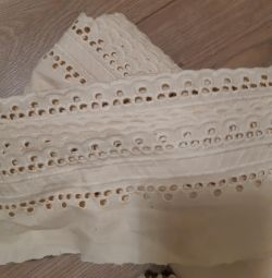 Cotton beige lace