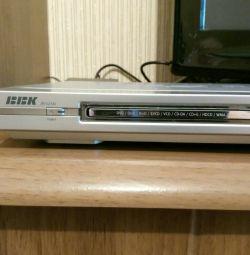 DVD player. Microfon.