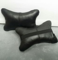 Genuine leather headrest in the car!