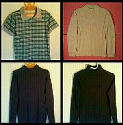 Рубашка-поло, водолазки, р.30,31