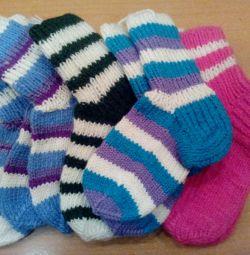 Knitted socks, new