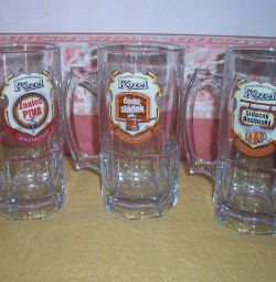 Beer mugs for 1 liter gift set