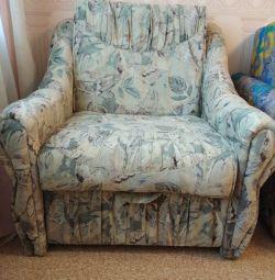 Кресло-кровать с ящиком для хранения