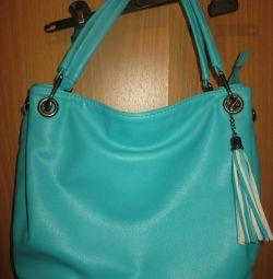 Нова жіноча сумка Екокожа м'ятно-бірюзова