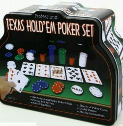 Game Poker in an iron case, 2 decks, 200 chips, to