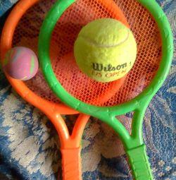 tennis racket for children + 3 balls