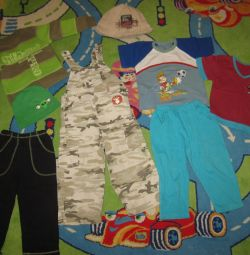Штаны, футболки, кофта, панамка р 86-104