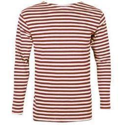 Cotton striped vest (red stripe)