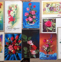 Flori URSS Carti postale (2)