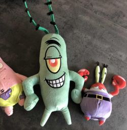 Toys from the cartoon SpongeBob