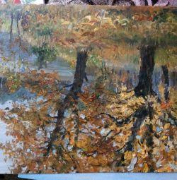 φθινόπωρο τοπίο ελαιογραφία