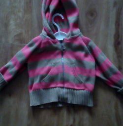 Sweatshirt for a girl on a height 74-80