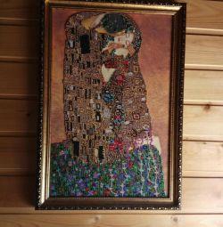 Poză cu margele în bagheta personalizată Gustav Klimt